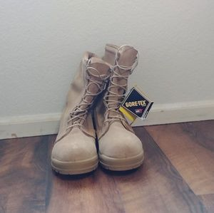 Cold Weather Military Combat Boots -Tan